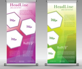 Scrolls business banners vector set 12