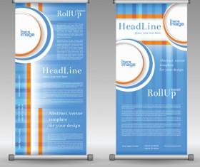 Scrolls business banners vector set 13