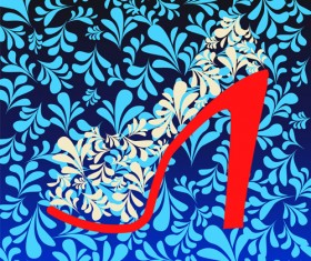 Shoes with floral background vector 01