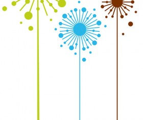 Simple dandelion vector