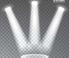 Spotlights effects vector illustration