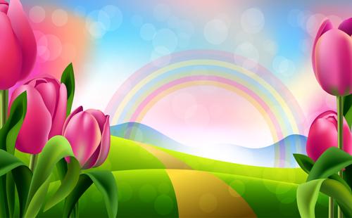 Spring flower beautiful backgrounds vectors 06 vector background spring flower beautiful backgrounds vectors 06 voltagebd Images