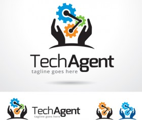 Tech Agent logo vector
