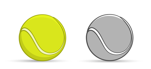 Tennis ball vectors graphics