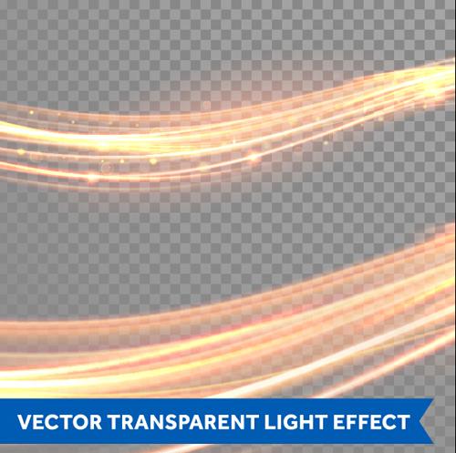 Transparent light effect illustration set vector 05