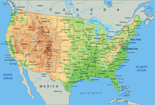 28 Physical Map Of Usa North American