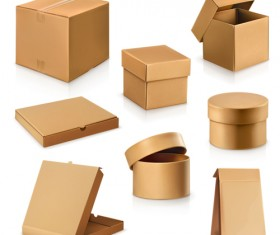 Various cardboard boxes vector