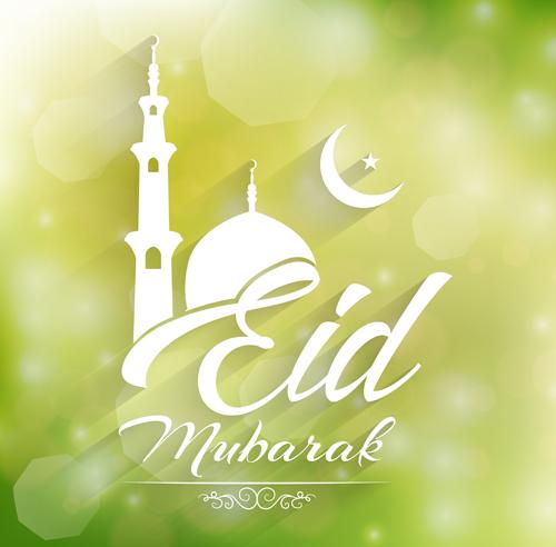 Vector Eid mubarak background graphics 07