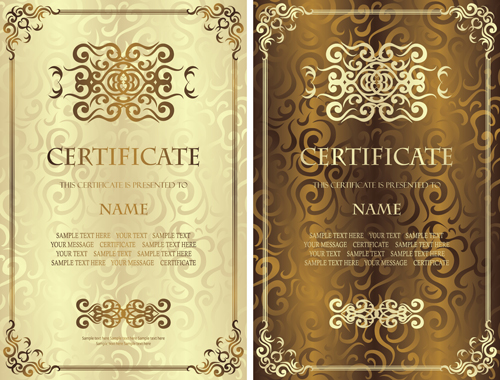 Vintage luxury certificates template set vector 04 vector cover vintage luxury certificates template set vector 04 yelopaper Gallery