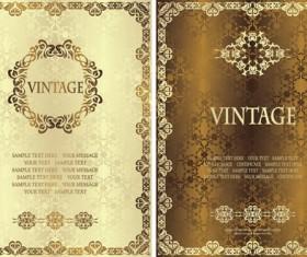 Vintage luxury certificates template set vector 06