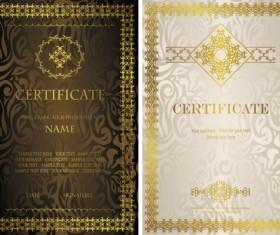 Vintage luxury certificates template set vector 07