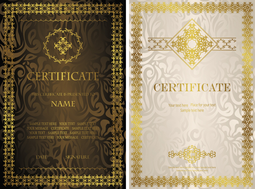 Vintage luxury certificates template set vector 07 vector cover vintage luxury certificates template set vector 07 yelopaper Gallery