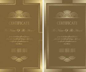 Vintage luxury certificates template set vector 08