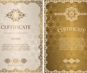 Vintage luxury certificates template set vector 09