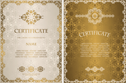 Luxury vector page 29 of 53 for free download vintage luxury certificates template set vector 09 yadclub Image collections