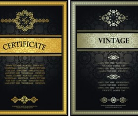 Vintage luxury certificates template set vector 10