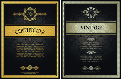 Vintage luxury certificates template set vector 10 vector cover vintage luxury certificates template set vector 10 yelopaper Gallery