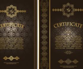 Vintage luxury certificates template set vector 11