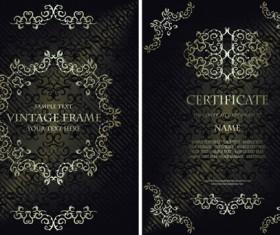 Vintage luxury certificates template set vector 12