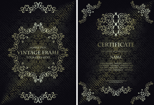 Vintage luxury certificates template set vector 12 vector cover vintage luxury certificates template set vector 12 yelopaper Gallery