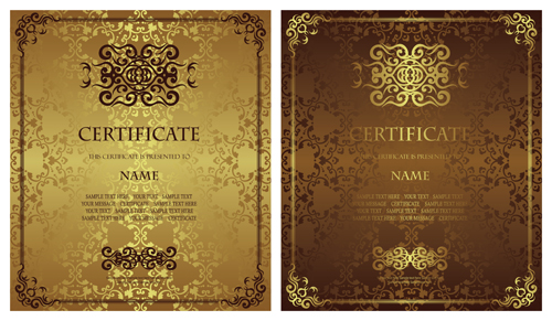 Vintage luxury certificates template set vector 13 vector cover vintage luxury certificates template set vector 13 yelopaper Gallery