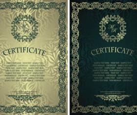 Vintage luxury certificates template set vector 14