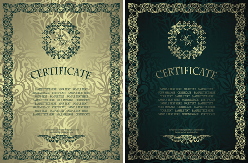 Vintage luxury certificates template set vector 14 vector cover vintage luxury certificates template set vector 14 yelopaper Gallery