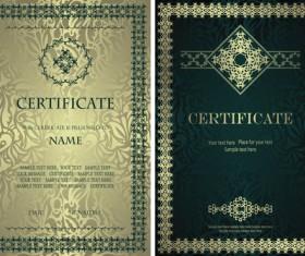 Vintage luxury certificates template set vector 15