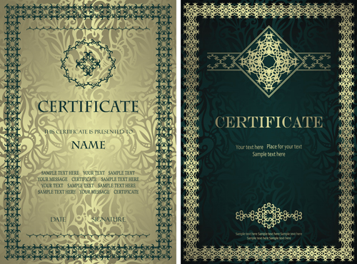 Luxury vector page 29 of 53 for free download vintage luxury certificates template set vector 15 yadclub Image collections