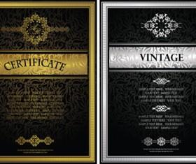 Vintage luxury certificates template set vector 17