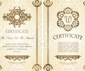 Vintage luxury certificates template set vector 18