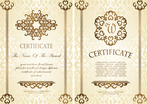 Vintage luxury certificates template set vector 18 vector cover vintage luxury certificates template set vector 18 yelopaper Gallery