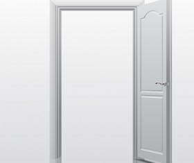 White doors design vector material 01