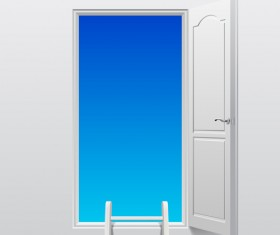 White doors design vector material 03