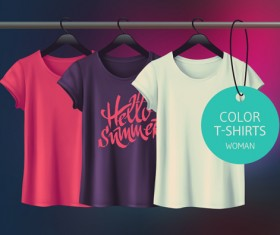 Woman t-shurts desing template vector