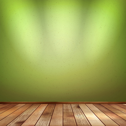 Wood Floor With Green Wall Vector Vector Background Free