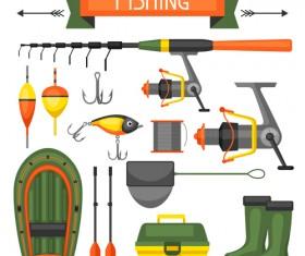fishing supplies vector illustration vector 01