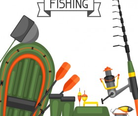 fishing supplies vector illustration vector 03