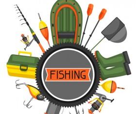 fishing supplies vector illustration vector 04