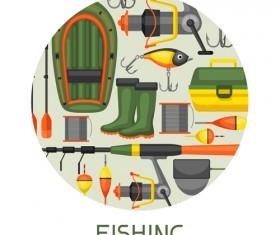 fishing supplies vector illustration vector 05