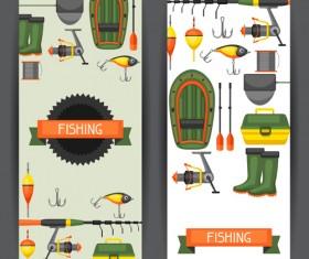 fishing supplies vector illustration vector 06