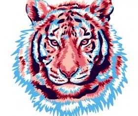pink tiger vector
