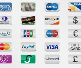 20 Kind Payment Option Icons