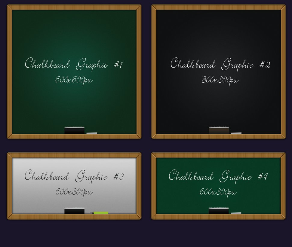 4 Kind Chalkboard psd background