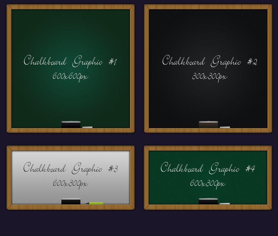 4 Kind Chalkboard psd background
