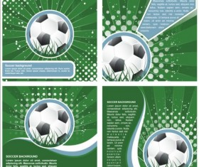 4 Kind soccer background set vector