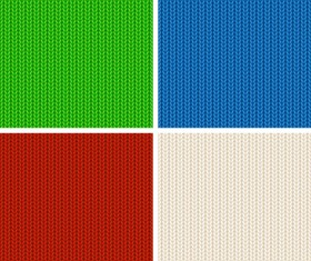 4Kind knitted colored pattern vector