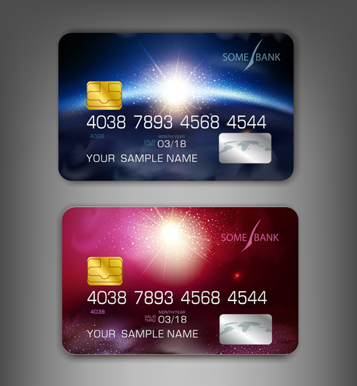 Abstract credit cards template vector 04