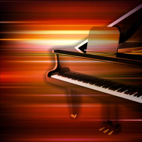 Piano Background Music: Abstract Music Background With Grand Piano Vector 01 Free