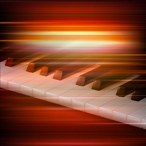 Piano Background Music: Abstract Music Background With Grand Piano Vector 02